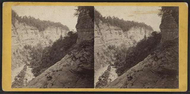 The Lower Taughannock Ravine, from the top of Main Fall.