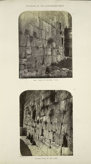 Exterior of the Haram-ash-Shárif : a. wall south of Wailing Place; b. Wailing Place of the Jews