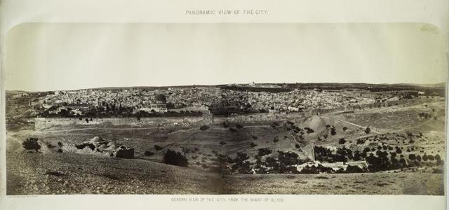 Panoramic view of the city. General view of the city, from the Mount of Olives