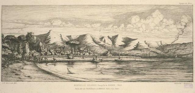 Presqu'île de banks, pointe dite des Charbonniers, à Akaroa, pêche à la seine.