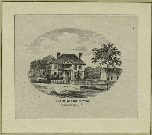 Res. of George Wythe, Williamsburgh, Va.