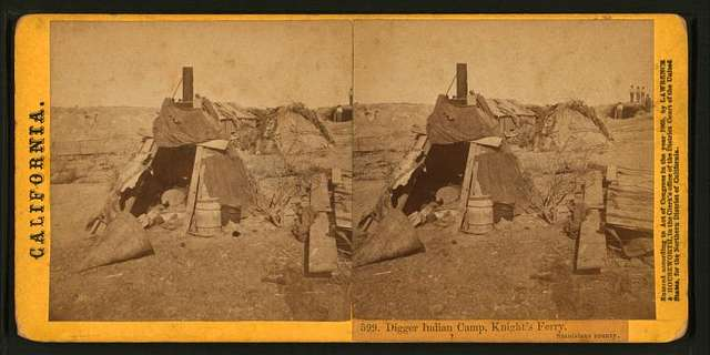 Digger Indian Camp, Knight's Ferry, Stanislaus County. [no. 599].