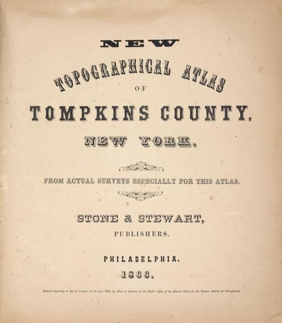 New topographical atlas of Tompkins County, New York.