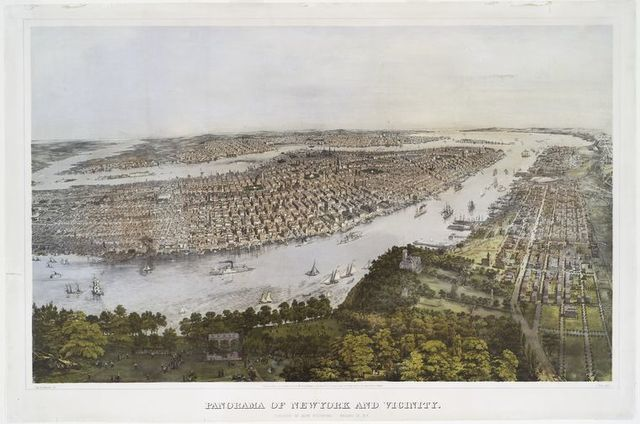 Panorama of New York and vicinity.