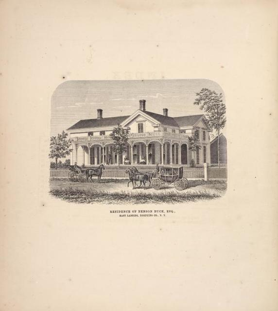 Residence of Benson Buck, Esq., East Lansing, Tompkins Co., N.Y.