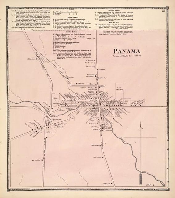 Panama Business Directory.; Brocken Straw Business Directory.; Panama [Village]