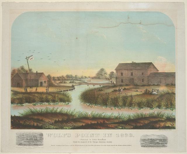 Wolf's Point in 1833.