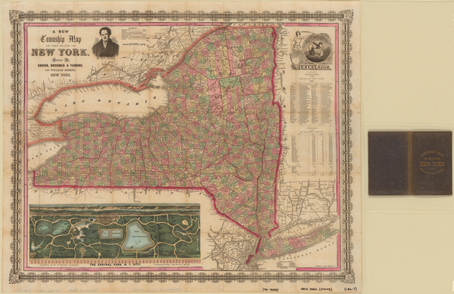 A new township map of the state of New York