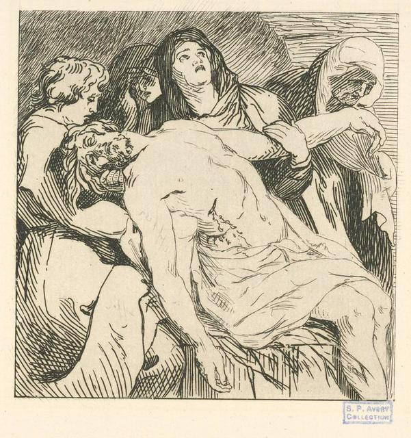 Le Christ pleuré par les saintes femmes.