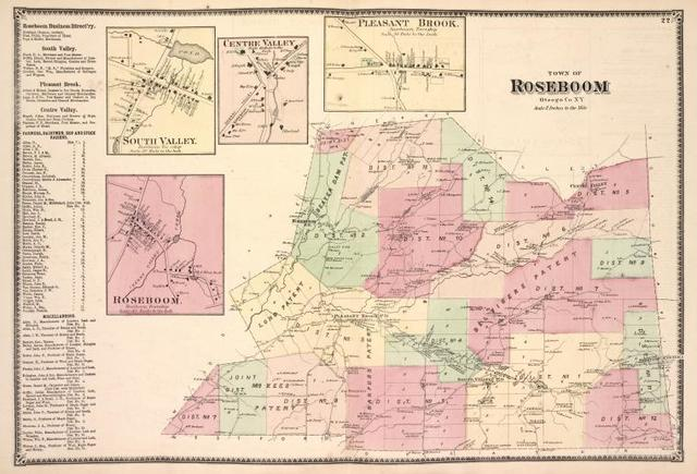 Roseboom Business Directory. ; South Valley. [Village]; Roseboom. [Village]; Centre Valley. [Village]; Pleasant Brook. [Village]; Town of Roseboom, Otsego Co. N.Y. [Township]