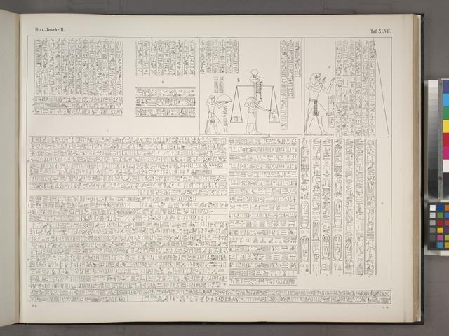 Darstellungen und Inschriften aus dem Tempel Ramses III in Medinet-Habu.