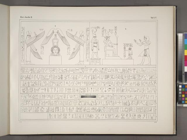 Darstellungen, vorzugsweise mythologischer Natur, Weihinschriften aus dem Tempel von Dendera, ausgenommen die Abbildungen der Nord- und Südschlange mit den dazu gehörigen Inschriften, welche sich an der Thür zur östlichen Colonnade des zweiten Tempelhofes von Philae befinden.