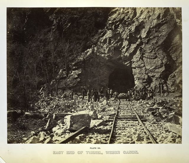 East end of tunnel, Weber Cañon.