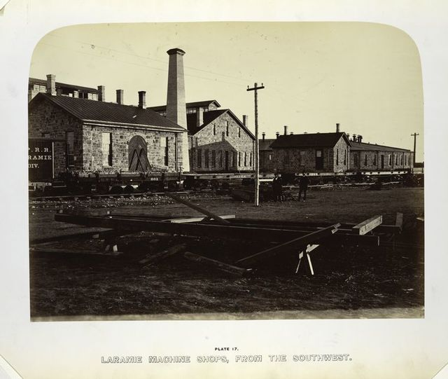 Laramie machine shops, from the southwest.