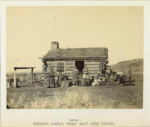 Mormon family, Great Salt Lake Valley.