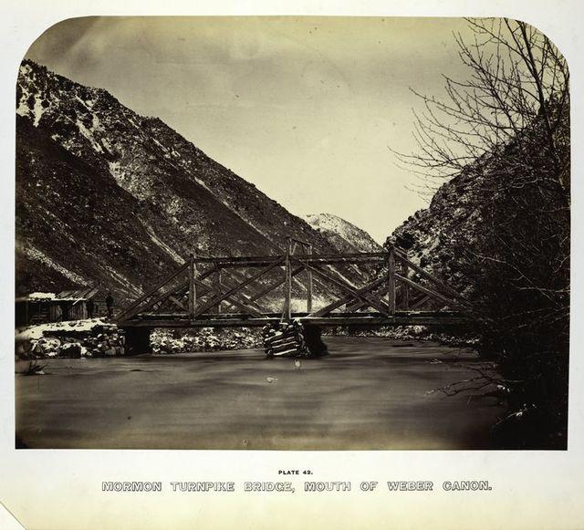 Mormon Turnpike Bridge, mouth of Weber Cañon.