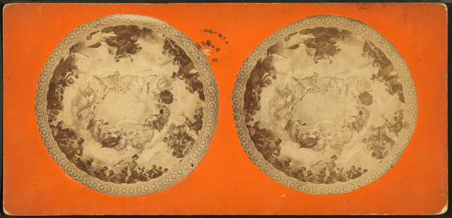 [The apotheosis of George Washington by Constantino Brumidi in the dome of the Capitol.]