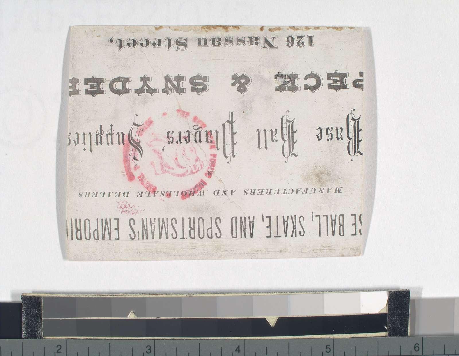 Athletics, Philadelphia, 1870. A. J. Reach, F. G. Malone, W. D. Fisler, T. J. Pratt, J. S. Sensenderfer, H. C. Schafer, Thos. Berry, G. Bechtel, J. Radcliff.