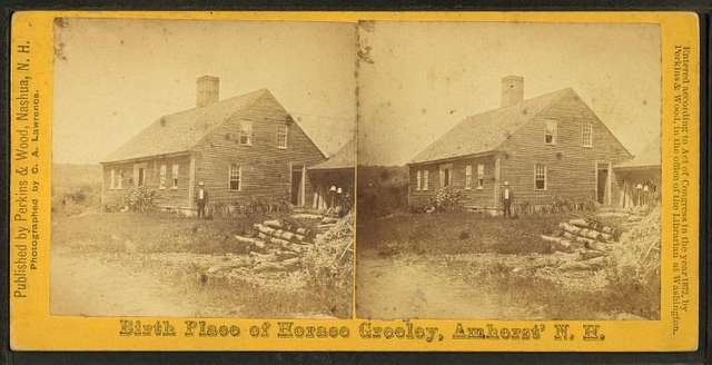 Birth Place of Horace Greeley, Amherst, N.H.