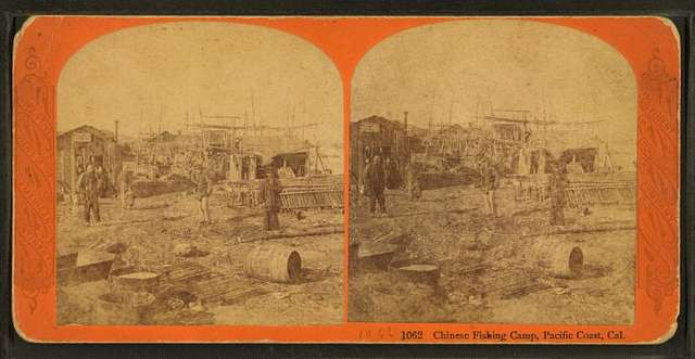 Chinese Fishing Camp, Pacific Coast, Cal.