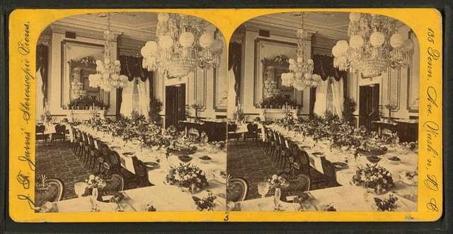 Dining Room in White House.