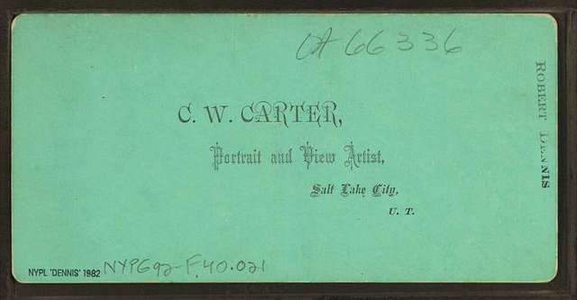 First bullion from Little Cottonwood Canyon. August 1870.