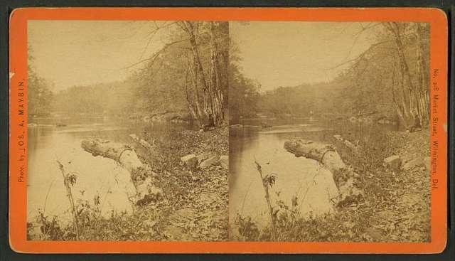 Opposite Moore & Jessups paper mills, looking down stream, Brandywine.