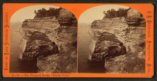 """The Pictured Rocks, """"Portal Point."""""""