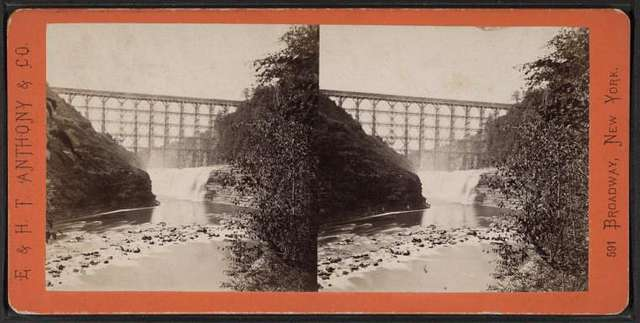 View of Portage Bridge and Horse Shoe Falls.