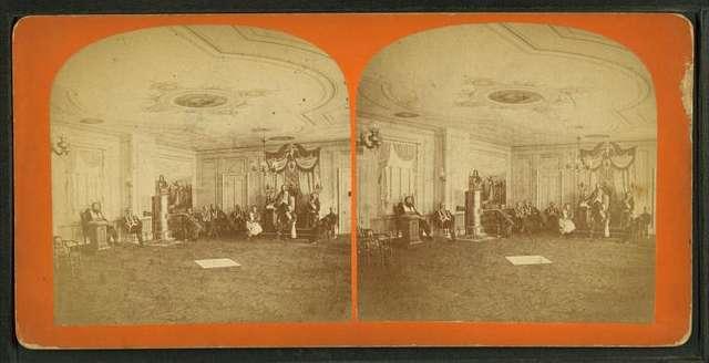 [Interior of Odd Fellows' New Hall, Georgetown.]
