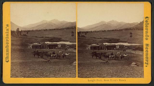 Long's Peak, from Evan's ranch.