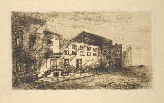 Niblo's Garden Theater, rear on Crosby Street