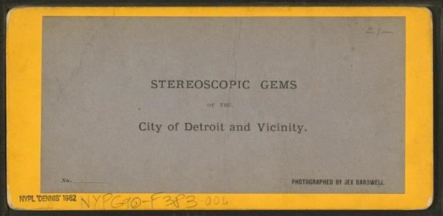 [Store fronts with awnings, Detroit, Michigan.]