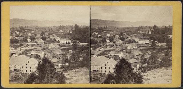 Village of High Falls from Bridge Hill.