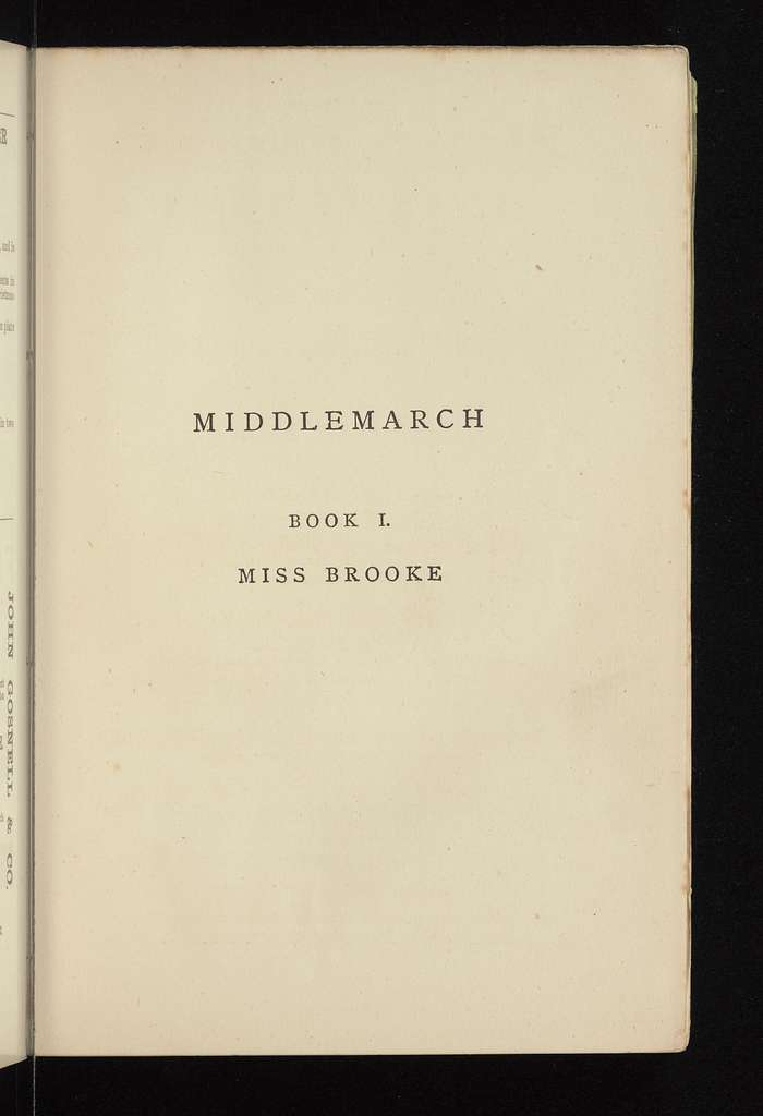 Miss Brooke, Book 1