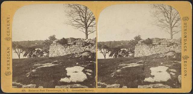 Ruins at Fort Ticonderoga, N.Y., Grenadier Battery.