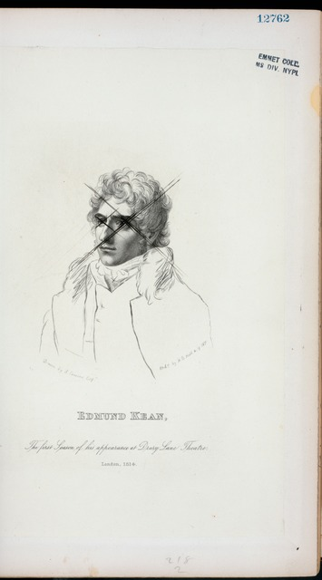 Edmund Kean, the first season of his appearance at Drury Lane Theatre, London, 1814.