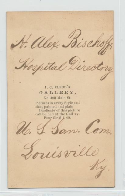 H. Alex. Bischoff, Hospital Directory. U.S. San. Com., Louisville, Ky.