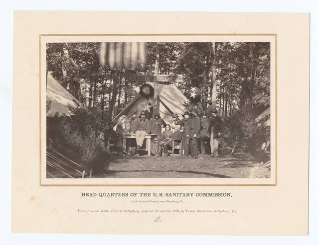 Head Quarters of the U.S. Sanitary Commission, at the General Hospital, near Gettysburg, Pa.