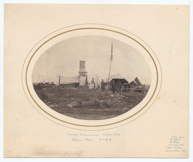 Sanitary Commission's Soldiers' Rest : Stevenson's Station B.& O. R.R.