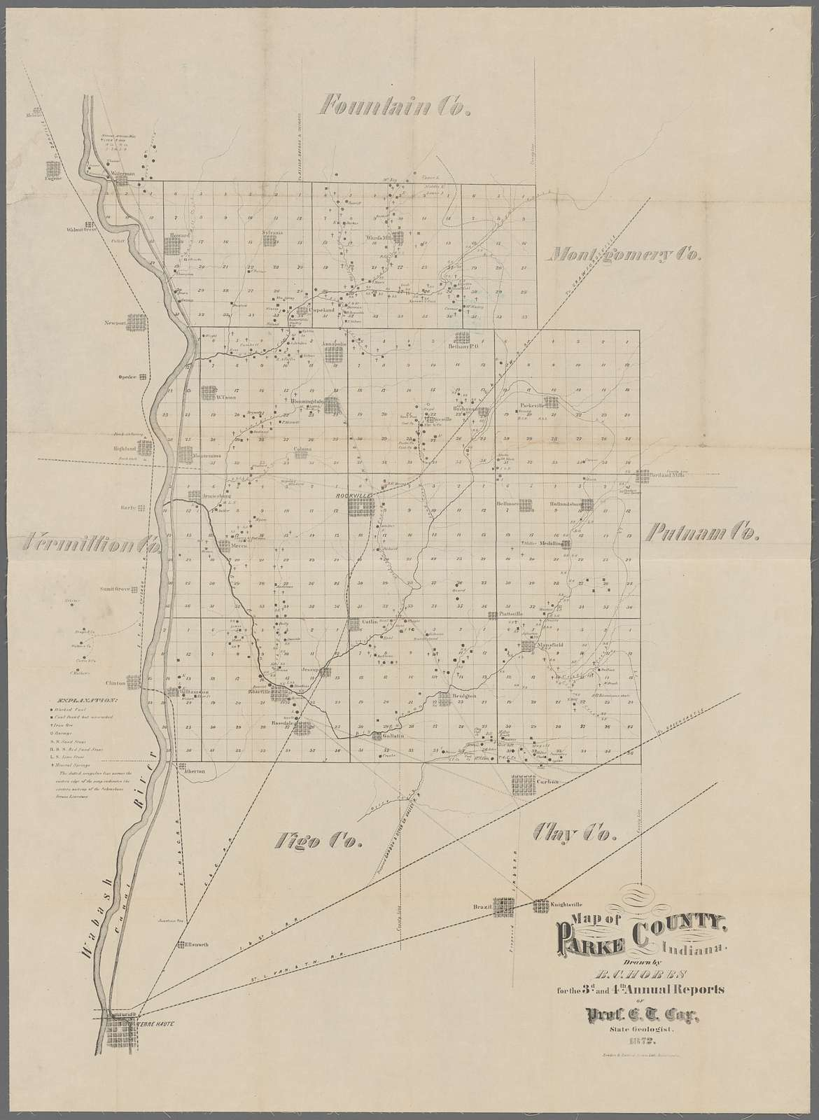 Map of Parke County, Indiana
