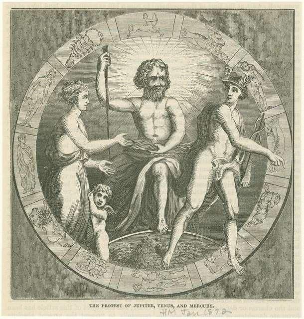 The protest of Jupiter, Venus, and Mercury