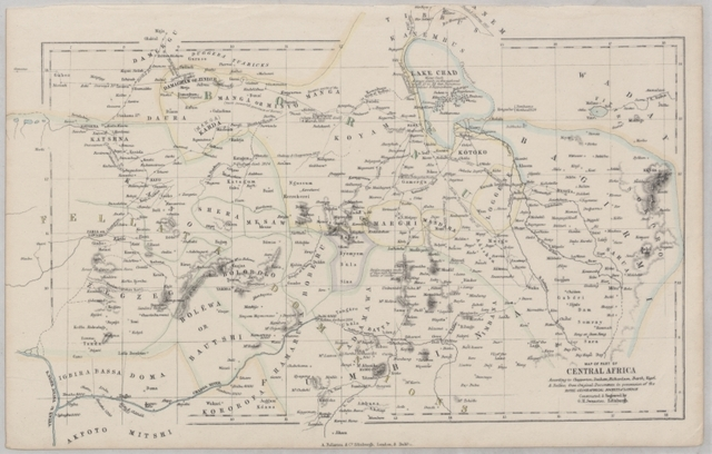 Map of part of Central Africa: according to Clapperton, Denham, Richardson, Barth, Vogel & Baikie from original documents in possession of the Royal Geographical Society of London