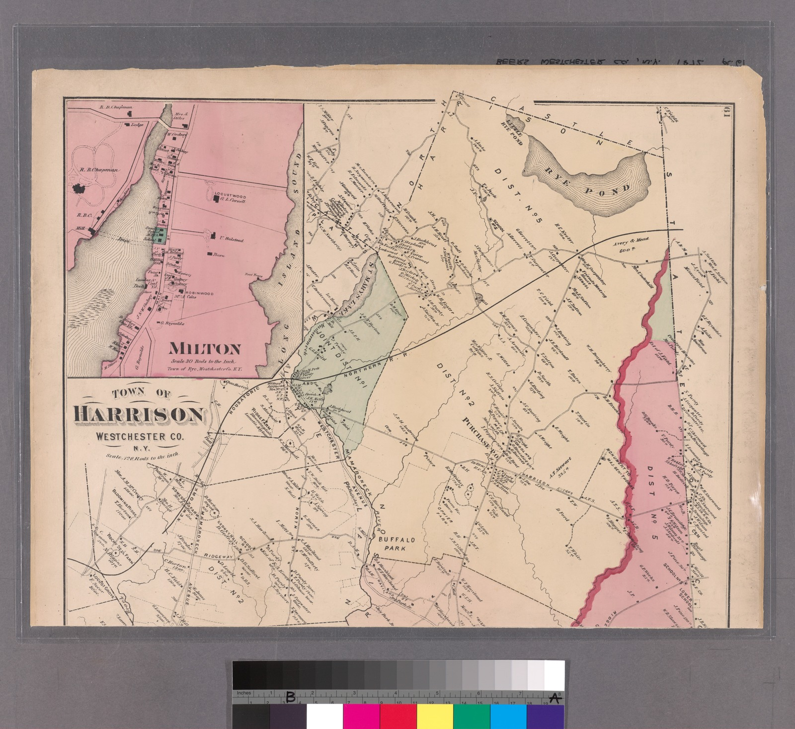 Plates 61 & 62: Town of Harrison, Westchester Co. N.Y. - Town of Rye, Westchester Co. N.Y.