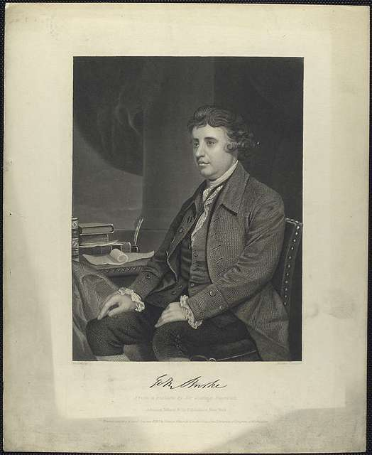 Edmund Burke. (Autograph) (From a picture by Sir Joshua Reynolds)