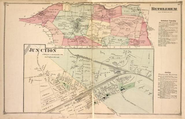 Bethlehem [Township]; Bethlehem Business Notices. ; Junction [Village]; Junction Business Notices.