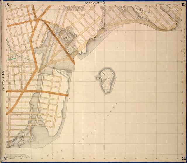 Bronx, Topographical Map Sheet 15; [Map bounded by 151 St., Southern Blvd., 149th St., Whitlock Ave., Wetmore Ave.; Including Edgewater Road, Cypress Ave., Powers Ave., Robbins Ave.]