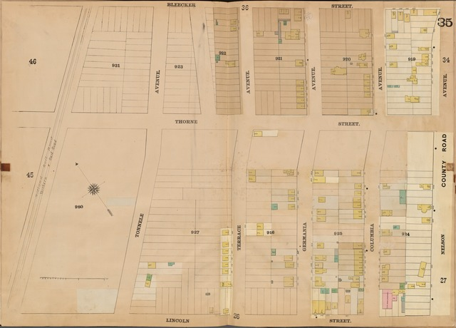 Jersey City, V. 4, Double Page Plate No. 35 [Map bounded by Bleecker St., Nelson Ave., Lincoln St., Tonnele Ave.]