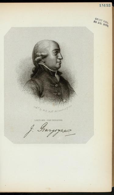 Lieut.-Gen. John Burgoyne.
