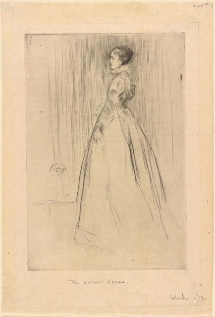 The velvet dress.